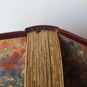 Arsene lupin Gentleman-cambrioleur, demi-cuir à coins avec mosaïque, tranchefile