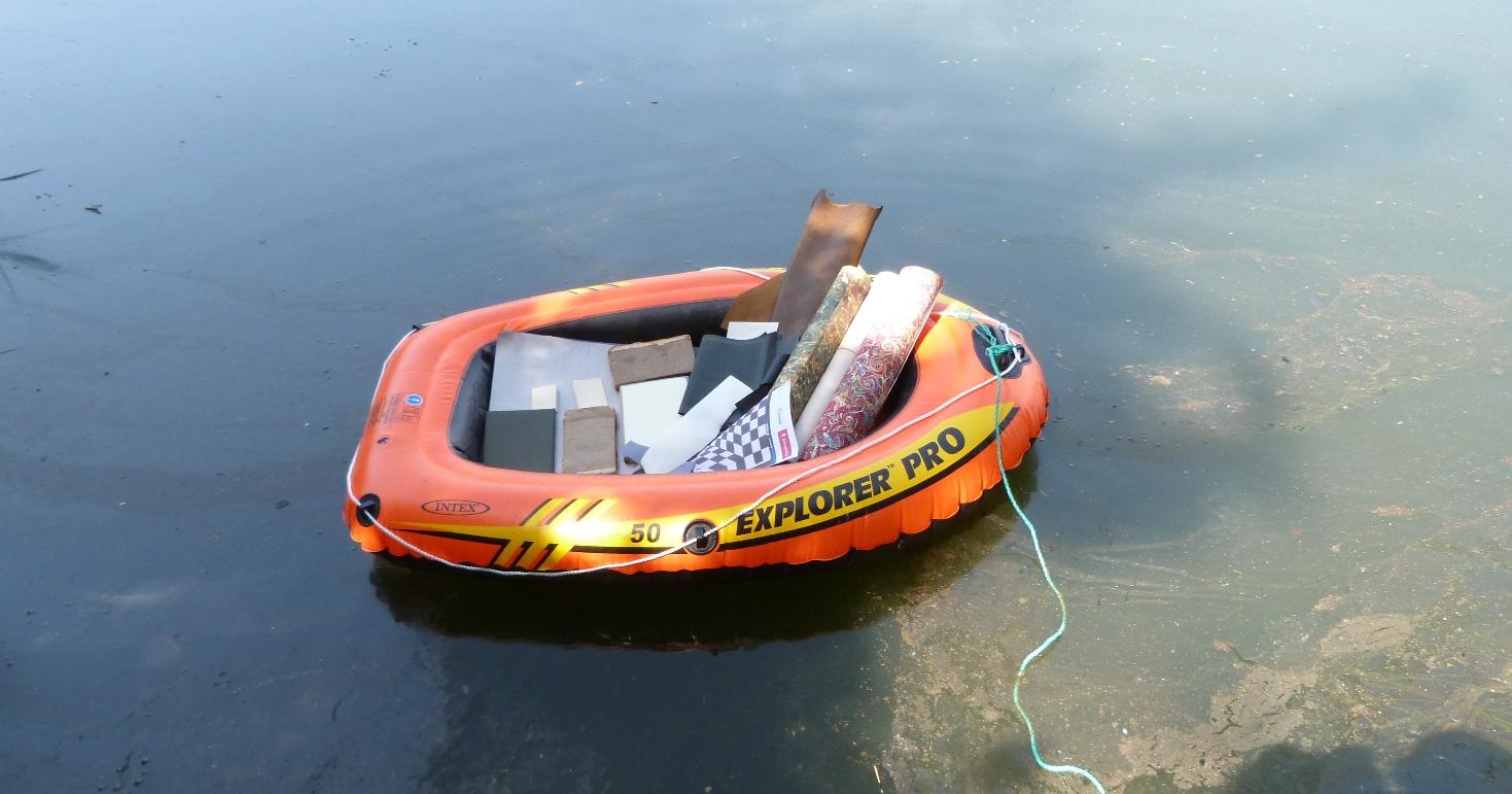 Mes devoirs de vacances d'été, départ en bateau.