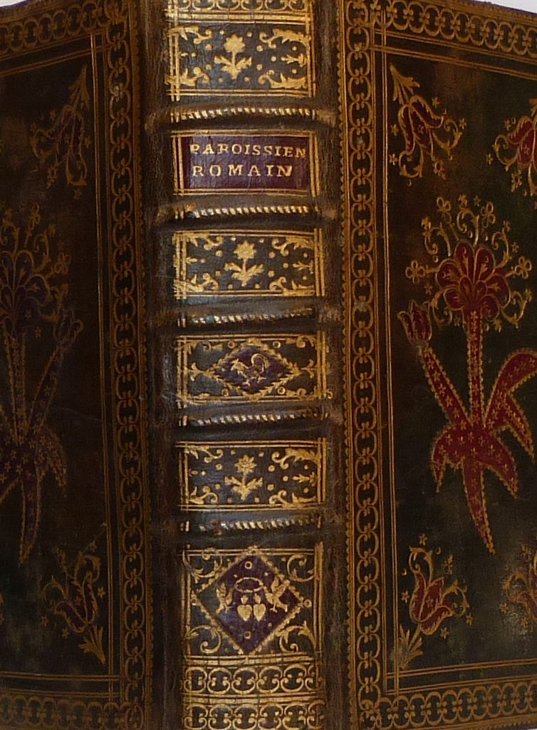 Paroissien Romain de 1789, dos.
