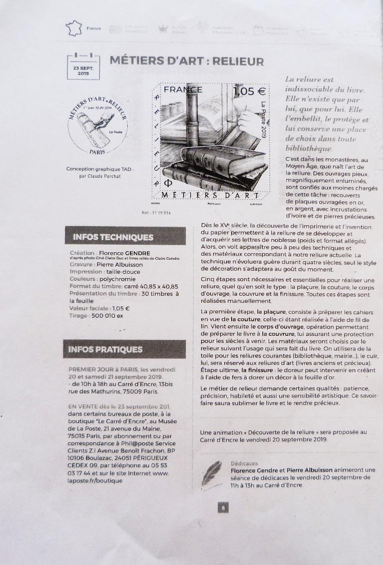 Informations sur le timbre.