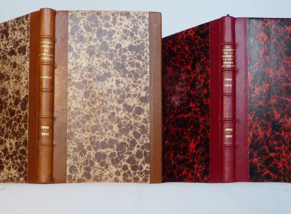 Carnets de notes (1990-1991), la paire.