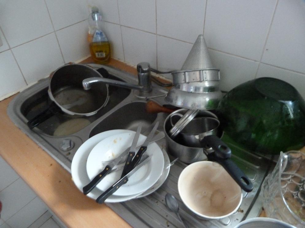 Corvée de vaisselle.