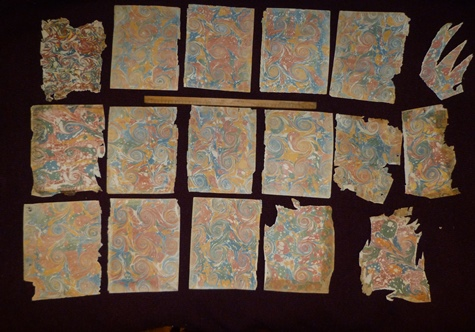 Papiers marbrés dix-huitième siècle,