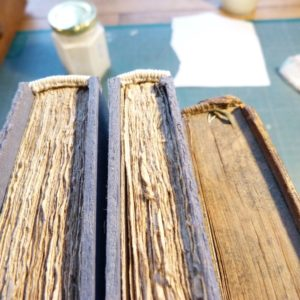 Fabrication d'une copie, la tranchefile.