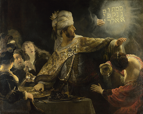 Festin de Balthazar par Rembrant.
