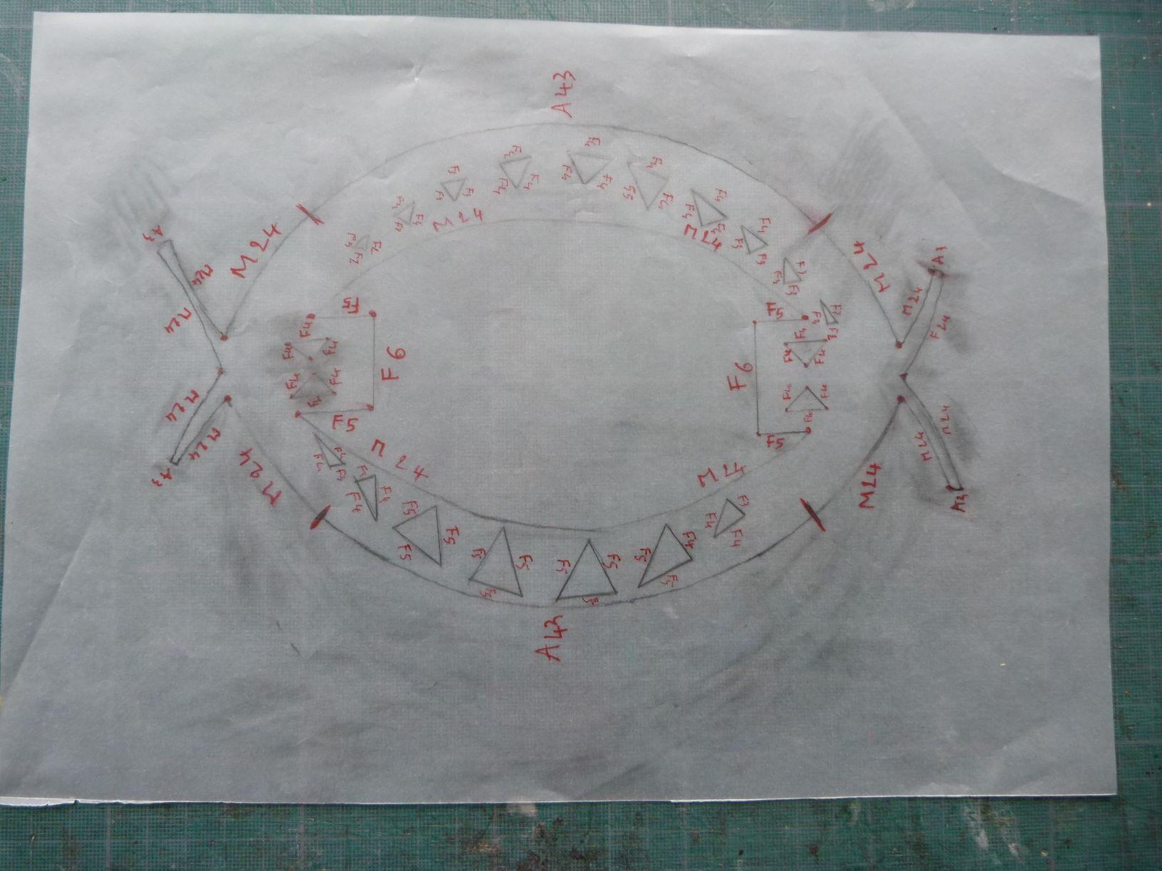 collage du cuir mosaïque.