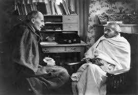 Photo de Romain Rolland avec Gandhi