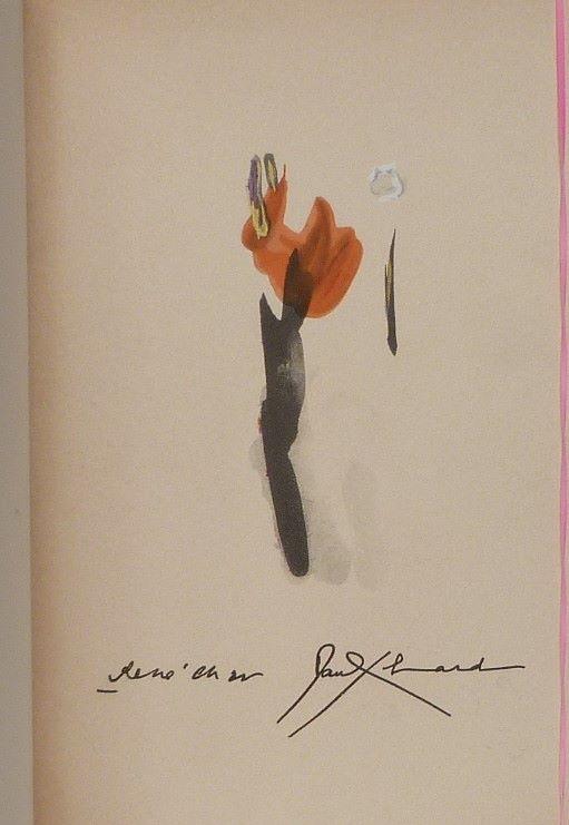 Deux poèmes de Paul Eluard et René Char, une de couverture.