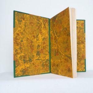 Deux poèmes de Paul Eluard et René Char, gardes couleurs.