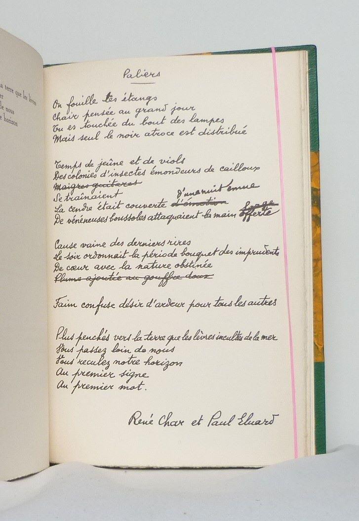 Manuscrit d'un poème.