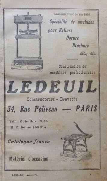 Encarts publicitaires 1927, première