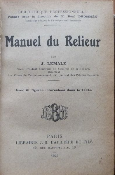 Encarts publicitaires 1927, l'origine