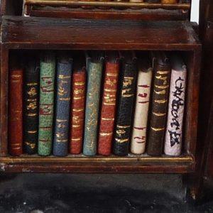 I) - Mini-bibliothèque à caissons, les caissons, pot pourri.