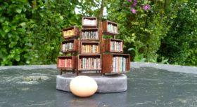 Mini-bibliothèque à caissons