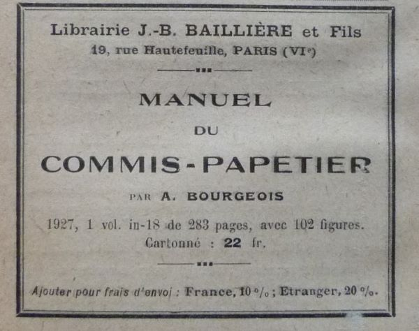 Manuel du commis-papetier