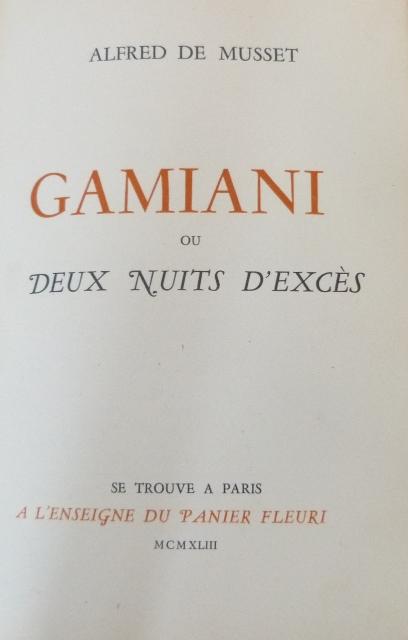Gamiani, le livre.