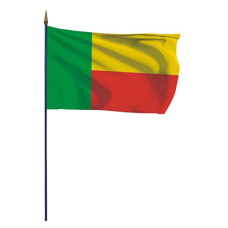 Drapeau du Bénin.