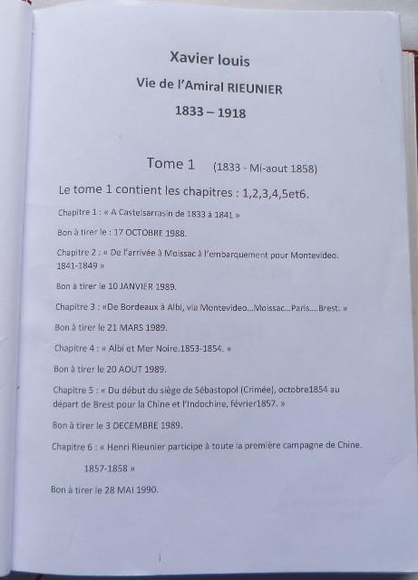 Sommaire du tome1