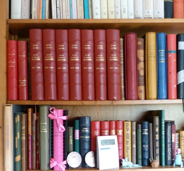 Les sept tomes, bibliothèque.