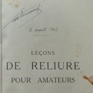 Autographe de Georges de Faucompré.