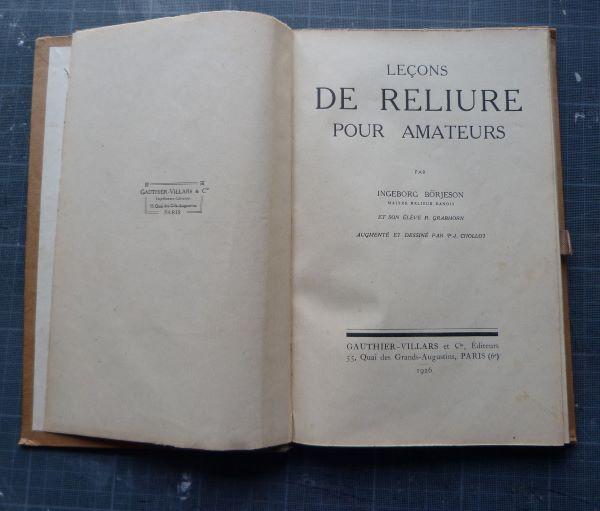 manuel de reliure