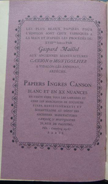 Reliures 1926 actualisées 1943 (1)?Gaspard Maillol