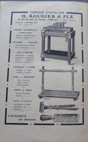 Reliures 1926 actualisées 1943 (1), H.Rougiet & Plé